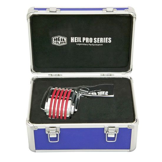Heil Sound FIN RED Dynamic Deco Style LED-Light Vocal Microphone  -