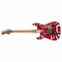 Striped Series Frankie, Maple Fingerboard, Red with Black Stripes Relic