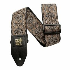 Ernie Ball 4163 Jacquard Strap Gold and Black Paisley