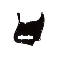 Fender Pickguard, 5-String Jazz Bass®, 10-Hole Mount, Black, 3-Ply