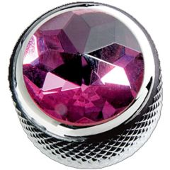 Q – Parts Dome Purple Crystal in Chrome KCD – 0101 Control Knob