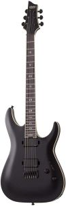 Schecter C-1 SLS Evil Twin Electric Guitar, Black Satin