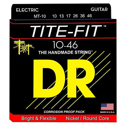DR Strings Tite-Fit MT-10 Nickel Plated Electric Guitar Strings 10-46