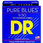 DR Strings Heavy PURE BLUES Pure Nickel Electric Guitar Strings (11-50)