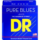 DR Strings PURE BLUES Quantum-Nickel Guitar Strings Medium 45, 65, 85, 105