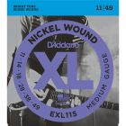 D'Addario EXL115 SET ELEC GTR XL BLUES/JAZZ Electric Guitar Strings