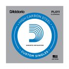 D'Addario PL011 SINGLE PLAIN STEEL 011 Acoustic Electric Guitar String