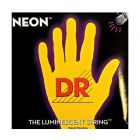 DR Strings Hi Def NEON Yellow Coated Bass Strings, 45, 65, 85, 105, 125