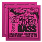 ERNIE BALL Super Slinky Bass Nickel Wound Strings (2834)- 2 Pack