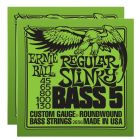 ERNIE BALL Regular Slinky 5-string Bass Nickel Wound Strings (2836)- 2 Pack