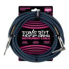 ERNIE BALL 6060 Musical Instrument Shielded Cable, 25 Feet, BRAIDED INSTRUMENT CABLE 25 Feet Black/Blue