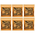 ERNIE BALL Hybrid Slinky Nickel Wound Electric Guitar Strings (2222) - 6 Pack