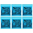 ERNIE BALL Extra Slinky Nickel Wound Electric Guitar Strings (2225) - 6 Pack