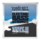 Ernie Ball Bass Flat Wound III String Set 45-100