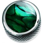 Q Parts Green Abalone Shell Inlays Dome, Chrome
