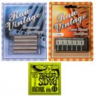 RAW VINTAGE RVTS-1 Tremolo Spring Set , RVS-112 11.2mm Bridge Saddle & Ernie Ball Strings