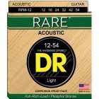 DR Strings RARE Phosphor Bronze Acoustic Guitar Strings (12-54)