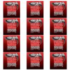 ERNIE BALL Light Electric Nickel Wound Guitar Strings (2208) - 12 Pack