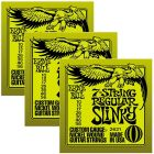 ERNIE BALL Regular Slinky Nickel Wound 7-String Electric Guitar Strings (2621) - 3 Pack