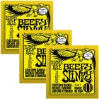ERNIE BALL Beefy Slinky Nickel Wound Electric Guitar Strings (2627) - 3 Pack