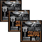 ERNIE BALL Coated Titanium RPS Skinny Top/Heavy Bottom Slinky Electric Guitar Strings(3115) -3 Pack
