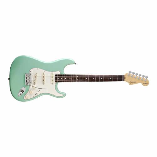 FENDER USA Jeff Beck Stratocaster Electric Guitar Rosewood Surf Green w/ Case