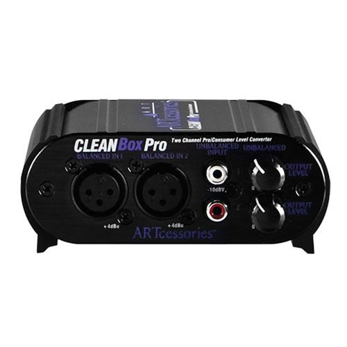 """ART Two Channel Pro Converter. XLR, RCA and 1/8"""" I/O w/ 12V AC Adaptor front"""