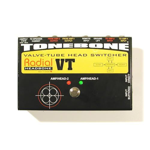 RADIAL Headbone VT Tube Amp Head Switcher Tone Bone Open Box