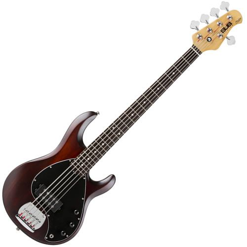 Sterling Ray5 Bass 5 String Rosewood Fingerboard Walnut Satin Finish