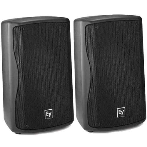 """EV Electro Voice ZX1-90 Black Compact 8"""" DJ PA Monitor Speakers PAIR"""