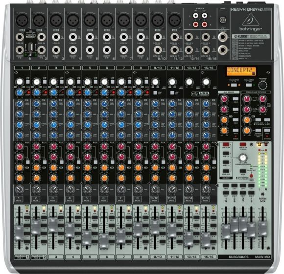 Behringer Xenyx QX2442USB Mixer with USB and Effects