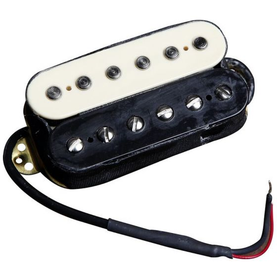 EVH Wolfgang Neck Humbucker Pickup, Black and White humbucker