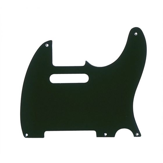 Fender Pickguard 52 Tele 1-Ply 5 hole Black