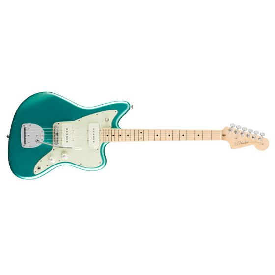 Fender American Professional Jazzmaster Guitar Maple Neck Mystic Seafoam Front