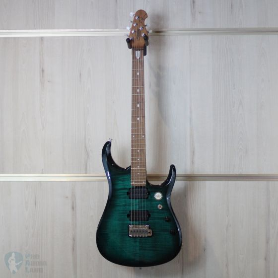 Sterling by Music Man John Petrucci JP150FM-TL Flame Top-Teal, Gig Bag Included