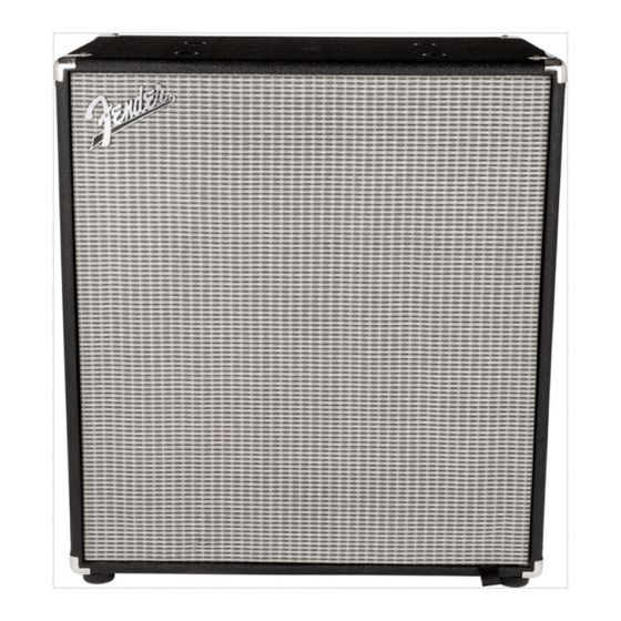 FENDER Rumble 410 Bass Cabinet, Black/Silver