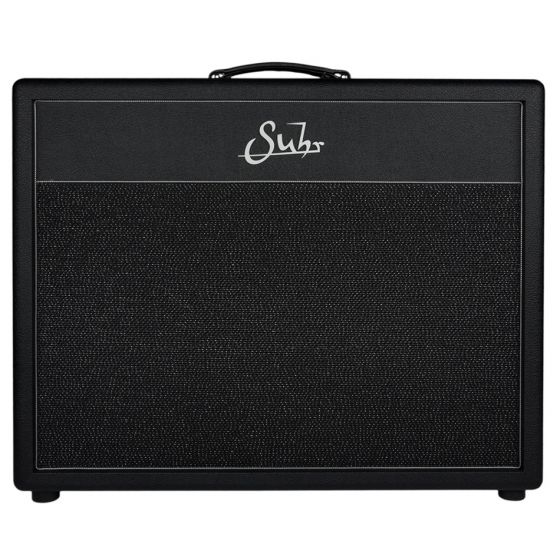 Suhr 2x12 Cabinet, Hedgehog, Tolex front,  Black/Silver Grill, Celestion G12-65H speakers