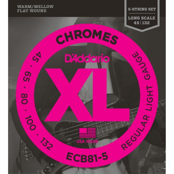 D'Addario ECB81-5 SET BASS CHROMES 45-132 5STR Bass Strings