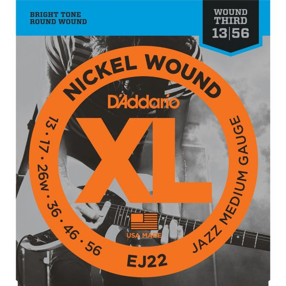 D'Addario EJ22 SET ELEC GTR XL JAZZ MED Electric Guitar Strings
