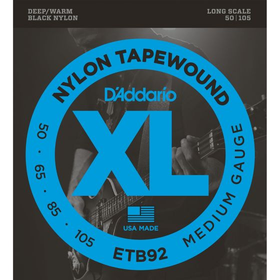 D'Addario ETB92 SET BASS TAPEWOUND 50-105 LONG Bass Guitar Strings