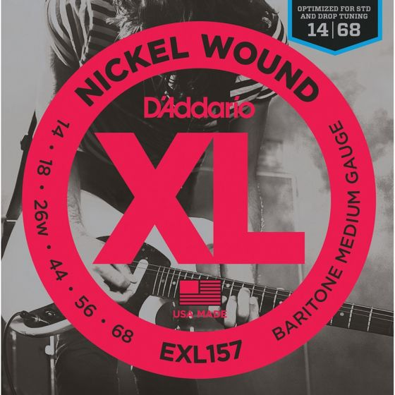D'Addario EXL157 SET ELEC BARITONE GTR XL MED Electric Guitar Strings