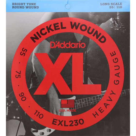 D'Addario EXL230 SET BASS XL 55-110 LONG SCALE Bass Guitar Strings
