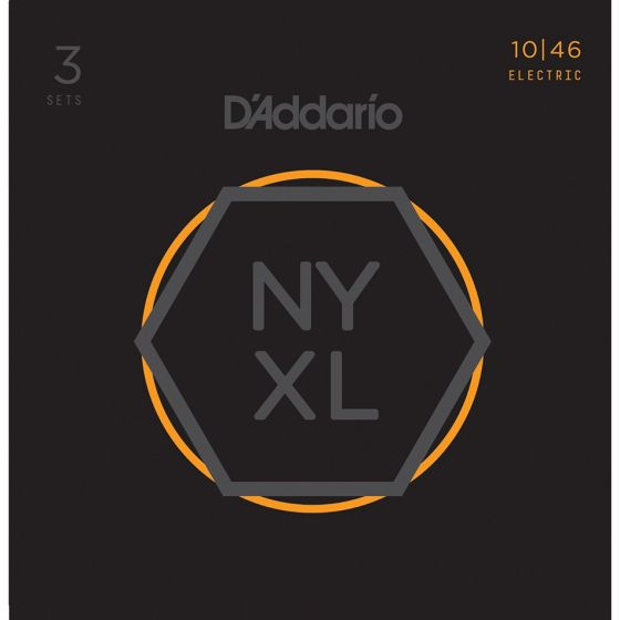 D'Addario NYXL1046-3P 3-PACK ELEC GTR NYXL REG LITE Electric Guitar Strings