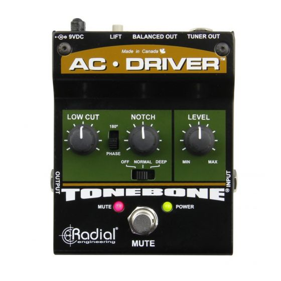 Radial AC-Driver Acoustic Instrument Preamp Open Box Mint