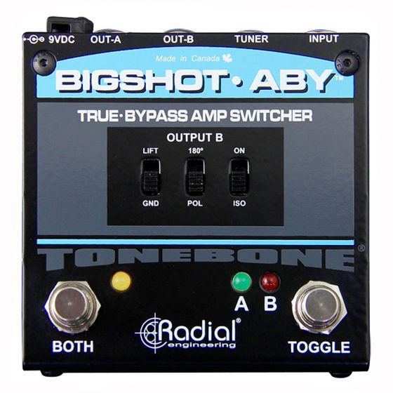 Radial BigShot ABY True Bypass ABY Switcher Pedal