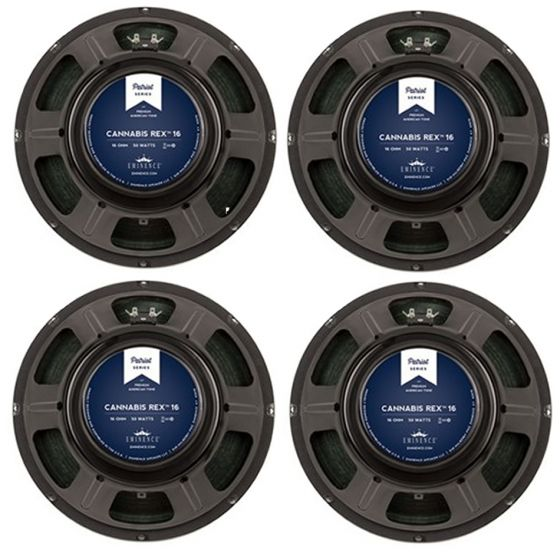 """EMINENCE Cannabis Rex Patriot Series 12"""" 16 Ohm Speakers 4 PACK"""