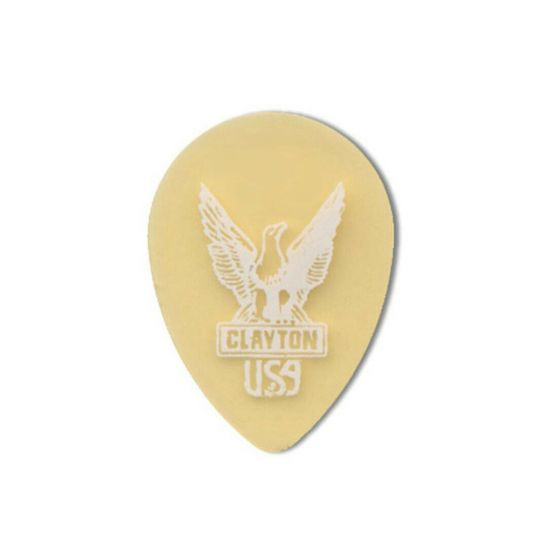 CLAYTON GOLD GUITAR PICK PACK (12) Small Teardrop Ultem Polymer 0.72mm Gauge