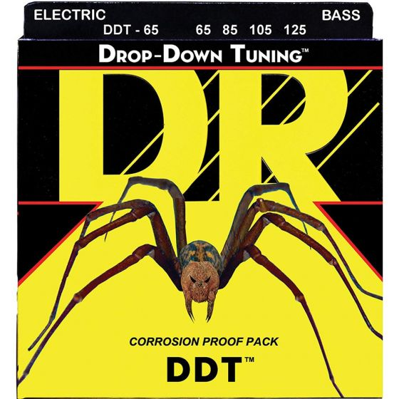 DR Strings Drop Down Tuning Bass Strings (65-125)