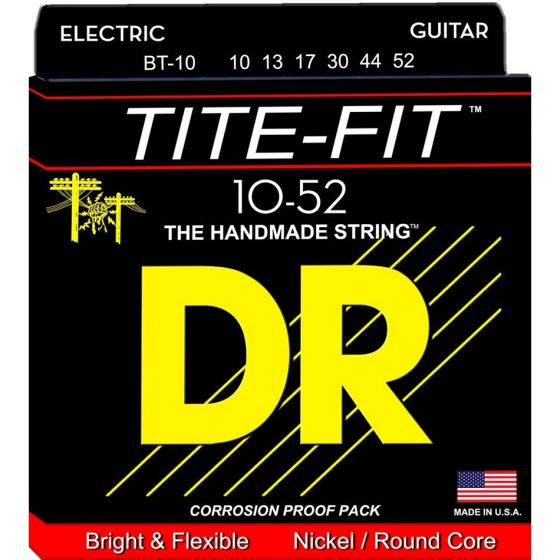 DR Strings Tite-Fit Nickel Plated Electric Strings (10-52)