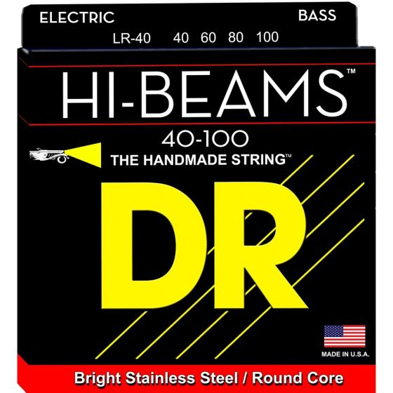 DR Strings HI-BEAM Stainless Steel Bass Strings (40-100)